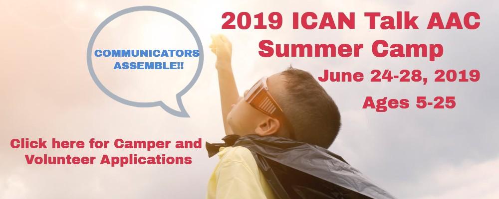 2019 ICAN Talk AAC Summer Camp